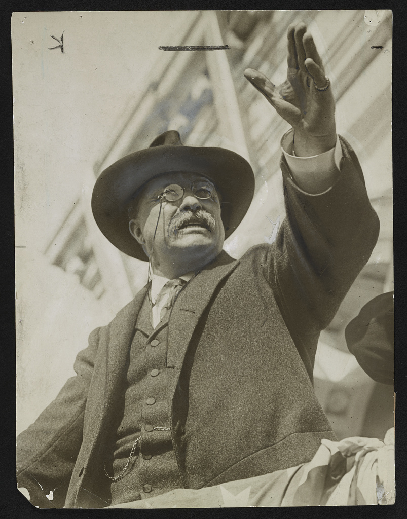 Theodore Roosevelt in Hackensack, New Jersey, 1912. Courtesy of the Library of Congress.