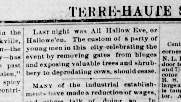 Terre Haute Saturday Evening Mail, November 1, 1873, 5, Hoosier State Chronicles.