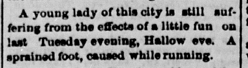 """Personal,"" Terre Haute Staurday Evening Mail, November 4, 1876, 1, Hoosier State Chronicles."