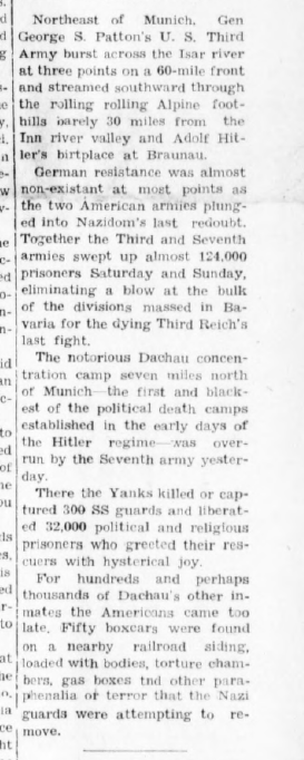 Greencastle Banner, April 30, 1945, 1, Hoosier State Chronicles.