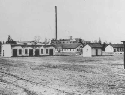 Dachau Barracks and Ammunition Factory, photograph, circa March or April 1933, National Archives and Records Administration, accessed United States Holocaust Memorial Museum