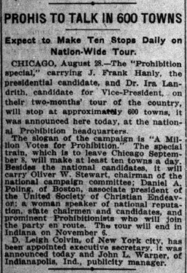 Indianapolis News, August 28, 1916. Courtesy of Hoosier State Chronicles.