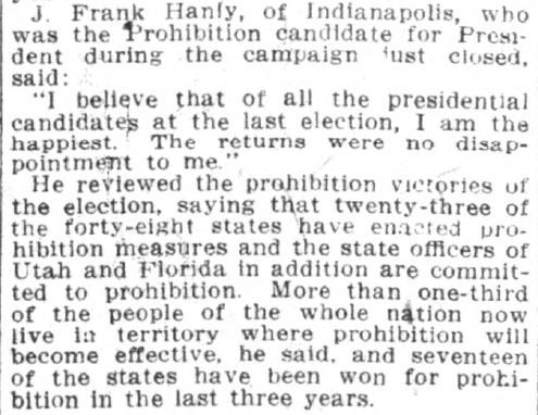 Indianapolis News, November 20, 1916. Courtesy of Hoosier State Chronicles.