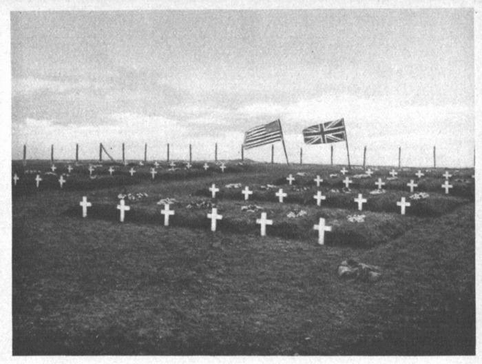 Graves of American soldiers that died in the sinking of the Tuscania, at Port Charlotte, Island of Islay, Scotland, Islay History.