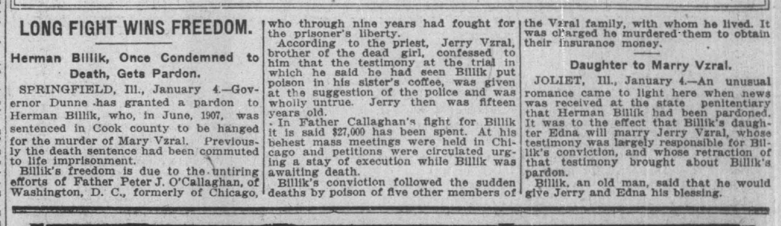 Indianapolis News, January 4, 1917, 5, Hoosier State Chronicles.