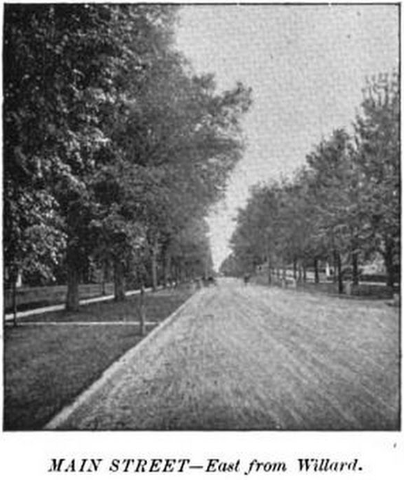 Main street in Burlignton, Vermont, 1893. On this street resided the city's rotary jail. Courtesy of Google Books.