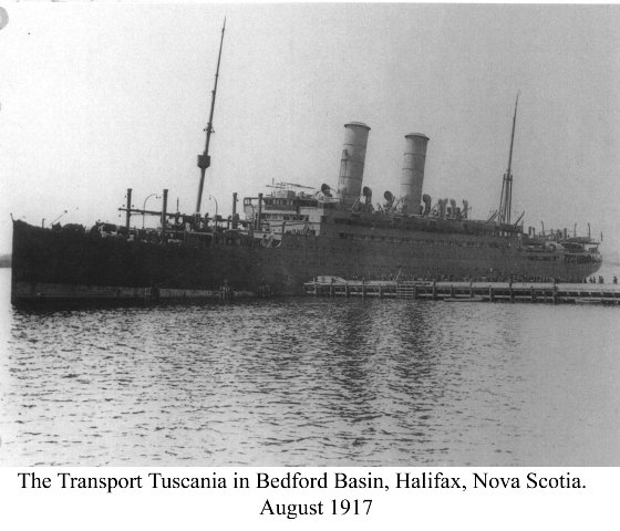 The Tuscania, in Nova Scotia, 1917, Forum Eerste Wereldoorlog.