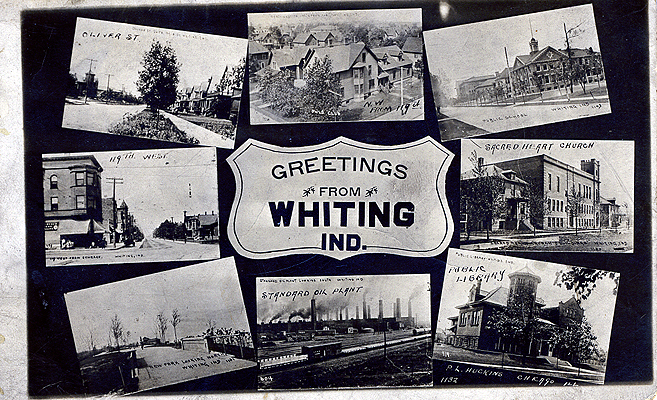 Greetings from Whiting, postcard, circa 1914, Whiting Public Library, accessed www.whiting.lib.in.usl
