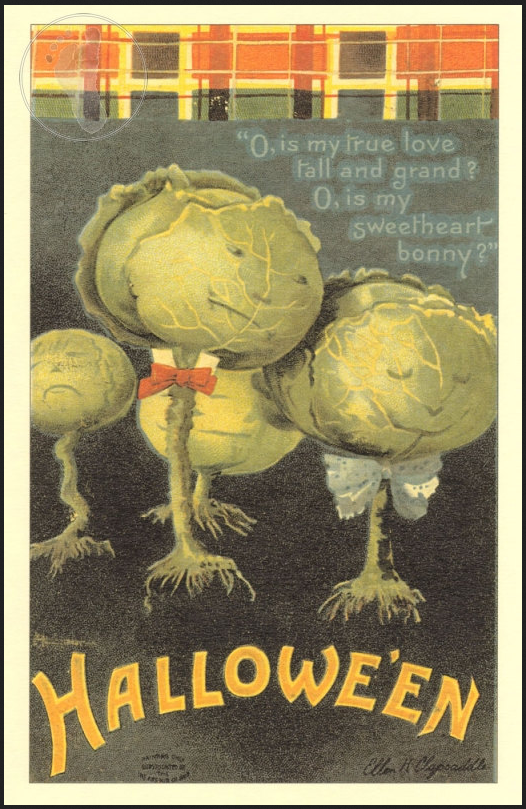 """Hallowe'en,"" postcard, n.d., William H. Hannon Library, Loyola Marymount University, accessed http://digitalcollections.lmu.edu/cdm/ref/collection/hpostcards/id/94"