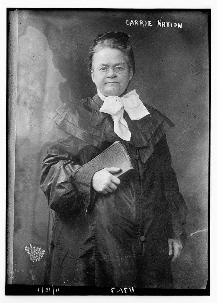 Carrie Nation. Courtesy of the Library of Congress.
