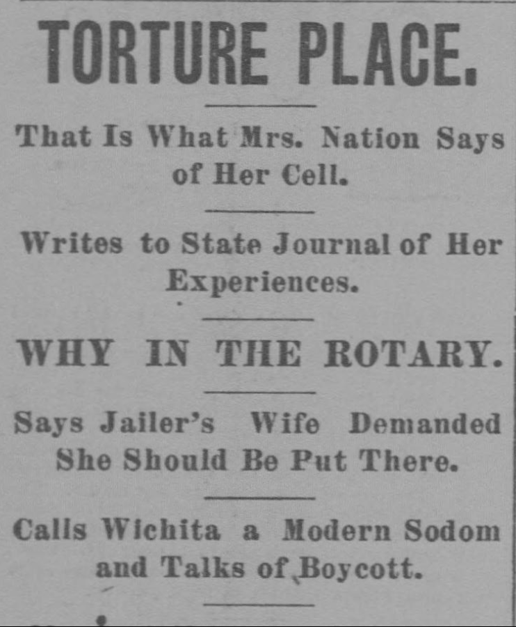 Topeka State Journal, April 27, 1901. From Chronicling America.