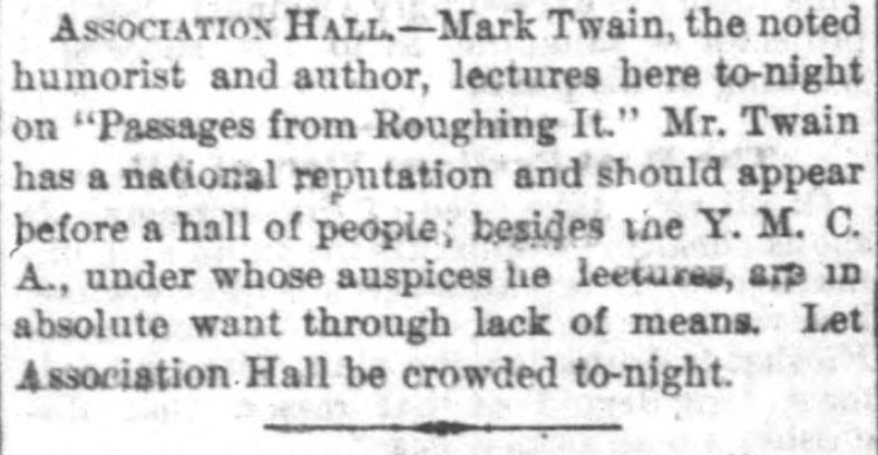 Indianapolis News, January 1, 1872. From Hoosier State Chronicles.