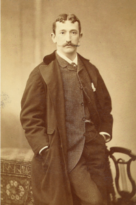 Dr. Carl Koller, photograph, circa 1885, accessed the Foundation of the American Academy of Opthamology