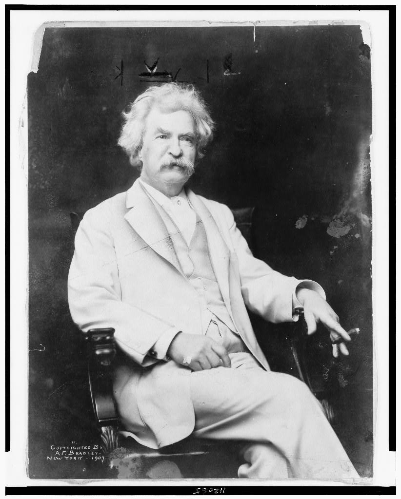 Mark Twain, 1907. Library of Congress.