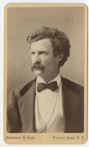 Mark Twain, circa 1860-1880. Indiana Memory,