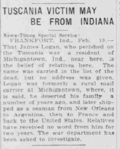 South Bend News-Times, February 19, 1918, Hoosier State Chronicles.