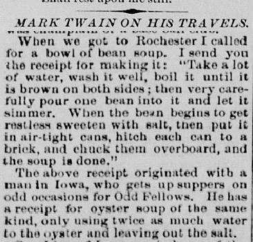Terre Haute Evening Mail, January 6, 1872. From Hoosier State Chronicles.