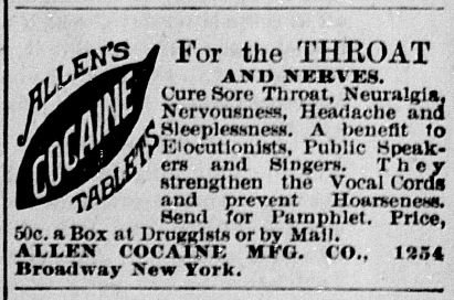 Advertisement, Terre Haute Saturday Evening Mail, October 24. 1885, 3.