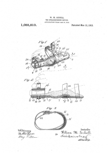 Toe-Straightening Device, US1055810, Publication Date March 11, 1913, accessed Google Patents