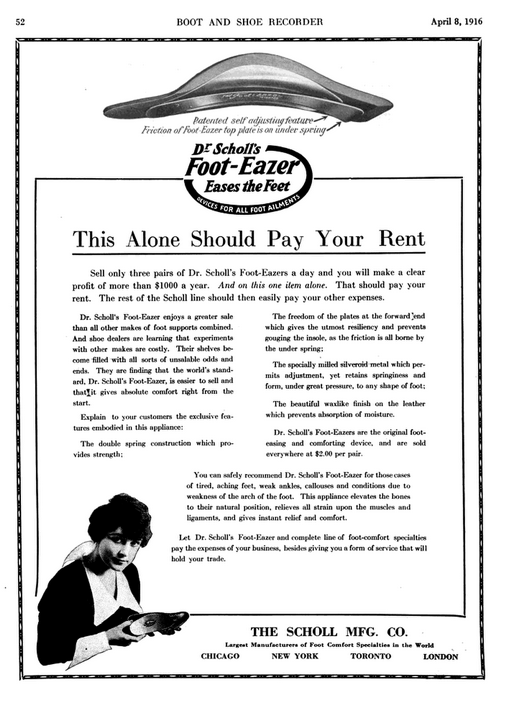 Advertisement for Salespeople, Boot and Shoe Recorder, April 8, 1916, 52, accessed Google Books