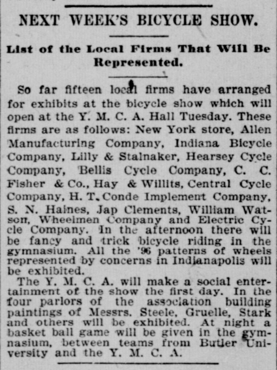Indianapolis Journal, January 25, 1894, Hoosier State Chronicles.