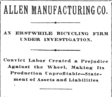 The headline from Billy Blodgett's first major piece on the company in the Indianapolis News, January 13, 1898, Hoosier State Chronicles.