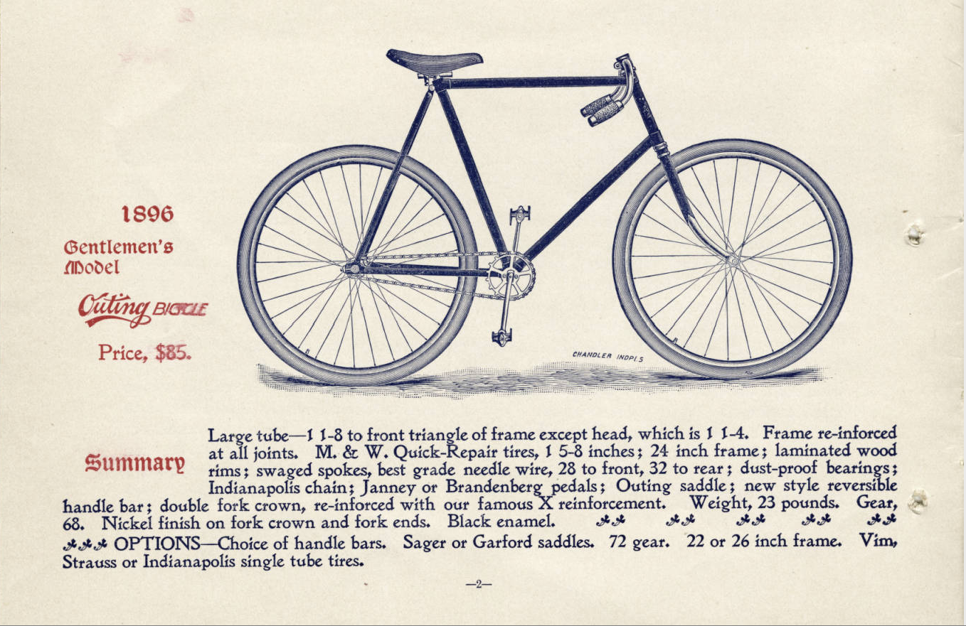 "An ""outing bicycle."" Indiana Historical Society."