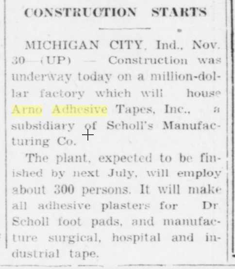 Greencastle Daily Banner, November 30, 1954, accessed Hoosier State Chronicles.