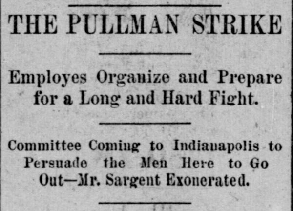 the influence of the american railway union among the workers of the pullman company The pullman strike was a nationwide railroad strike in the united states on may 11, 1894, and a turning point for us labor law it pitted the american railway union (aru) against the pullman company , the main railroads, and the federal government of the united states under president grover cleveland.