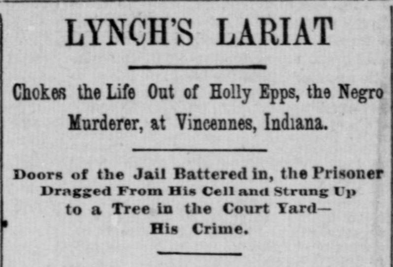 Indiana State Sentinel, January 20, 1886, Chronicling America.